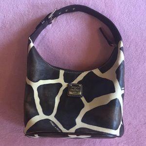 DOONEY & BOURKE giraffe print leather handbag
